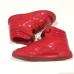 Classic Reebok Red Patent Sneakers Sz 7.5